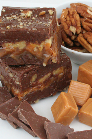 Chocolate Caramel Pecan Fudge
