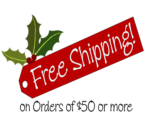 Free Shipping on orders of $50.00 or more