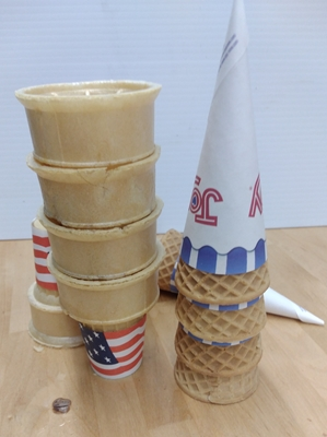 4 Pack - Ice Cream Cones