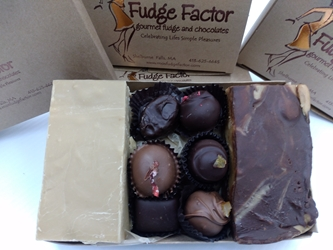 Peanut Butter Fudge and Truffle Sampler